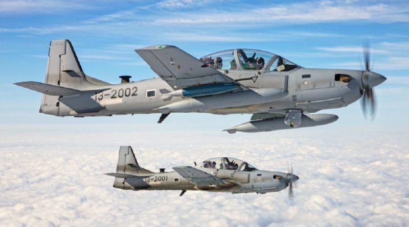 La Fuerza aérea afgana lanza por primera vez una bomba láser en combate. Cabecera
