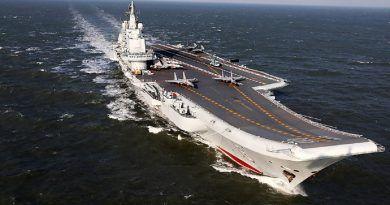 El portaaviones chino Liaoning realiza simulacros por primera en el Pacífico. Cabecera